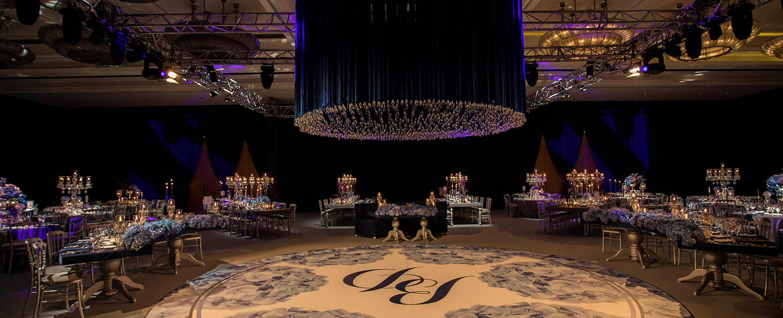 Blue Themed Engagement Party at the Four Seasons
